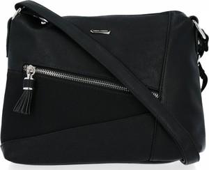 Czarna torebka David Jones na ramię