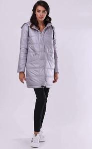Srebrna kurtka Nommo w stylu casual