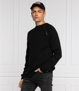 Czarny sweter Calvin Klein z wełny w stylu casual
