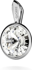 GIORRE SREBRNY WISIOREK SWAROVSKI RIVOLI 925 : Kolor kryształu SWAROVSKI - Crystal, Kolor pokrycia srebra - Pokrycie Jasnym Rodem