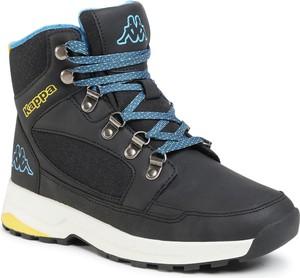 Czarne buty zimowe Kappa sznurowane
