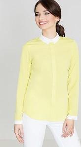 Żółta koszula LENITIF z długim rękawem