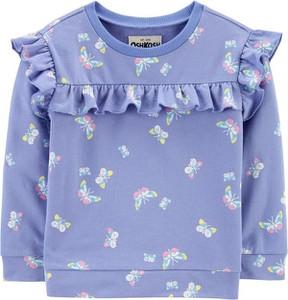 Bluza dziecięca OshKosh z bawełny w kwiatki