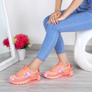 Pomarańczowe buty sportowe Royalfashion.pl ze skóry ekologicznej