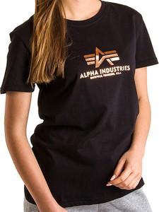 Bluzka Alpha Industries w młodzieżowym stylu z okrągłym dekoltem z krótkim rękawem