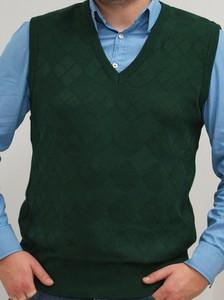 Zielona kamizelka M. Lasota z bawełny