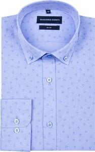 Koszula Giacomo Conti z kołnierzykiem button down z bawełny