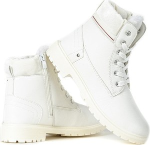 Białe trapery damskie, kolekcja wiosna 2020