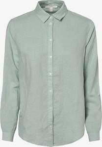 Miętowa bluzka Esprit z długim rękawem