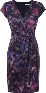 Fioletowa sukienka POTIS & VERSO z krótkim rękawem