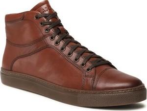 Brązowe buty zimowe Lasocki w stylu casual ze skóry