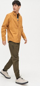 Żółta koszula Cropp z bawełny z długim rękawem
