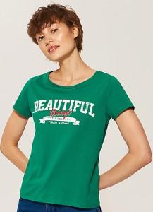 Zielony t-shirt House z krótkim rękawem