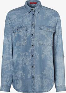 Niebieska bluzka S.Oliver z kołnierzykiem w stylu klasycznym z długim rękawem