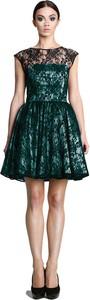 Zielona sukienka Camill Fashion bez rękawów mini