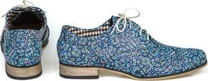 Niebieskie półbuty Zapato w stylu vintage