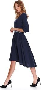 Granatowa sukienka Top Secret koszulowa midi