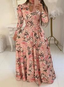 Sukienka Cikelly maxi z długim rękawem