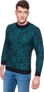 Zielony sweter Wrangler z dzianiny