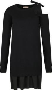 Czarna sukienka Twinset z długim rękawem