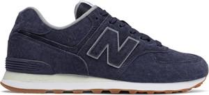 Niebieskie buty sportowe New Balance sznurowane 574