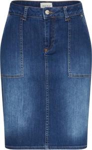 Niebieska spódnica white stuff w street stylu z bawełny midi