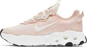 Różowe buty sportowe Nike sznurowane z zamszu