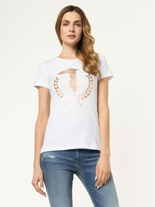 T-shirt Trussardi Jeans w młodzieżowym stylu z krótkim rękawem