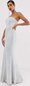 Srebrna sukienka Bariano bez rękawów