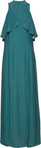 Zielona sukienka bonprix BODYFLIRT bez rękawów maxi w stylu casual