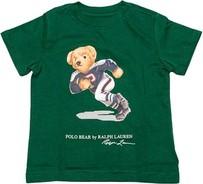 Zielona koszulka dziecięca POLO RALPH LAUREN dla chłopców z bawełny