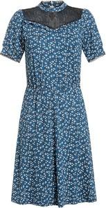 Niebieska sukienka Vive Maria mini z dekoltem w kształcie litery v w stylu casual