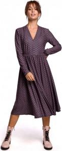 Fioletowa sukienka Be midi