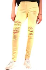 Żółte jeansy Elisabetta Franchi w stylu casual z bawełny