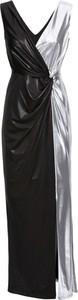 Czarna sukienka bonprix BODYFLIRT boutique bez rękawów maxi z dekoltem w kształcie litery v