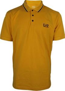Żółta koszulka polo Emporio Armani w stylu casual