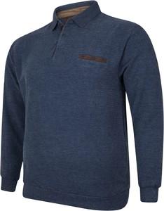 Niebieska bluza Bigsize z bawełny