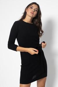 Sukienka Authentic Cashmere z długim rękawem prosta