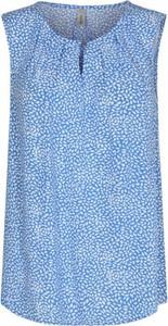 Niebieska bluzka Soyaconcept bez rękawów