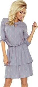 Sukienka NUMOCO mini z długim rękawem oversize