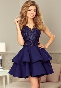 Sukienka NUMOCO bez rękawów rozkloszowana mini