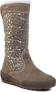Brązowe buty dziecięce zimowe Primigi