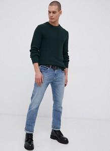 Zielony sweter Premium by Jack&Jones w stylu casual z okrągłym dekoltem