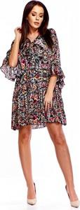 Sukienka La Perla asymetryczna w stylu casual z żabotem
