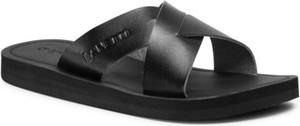 Czarne buty letnie męskie Lanetti