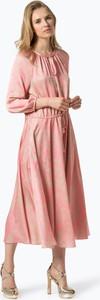 Różowa sukienka Ipuri midi