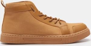 Sinsay - Wysokie sneakersy - Brązowy