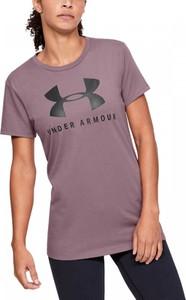 Różowy t-shirt Under Armour z bawełny
