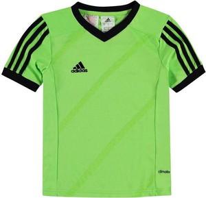 Koszulka dziecięca Adidas z krótkim rękawem w paseczki