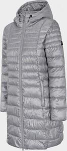Srebrny płaszcz Outhorn w stylu casual